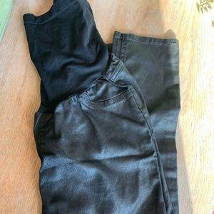 Black Metallic Jessica Simpson Maternity Jeans